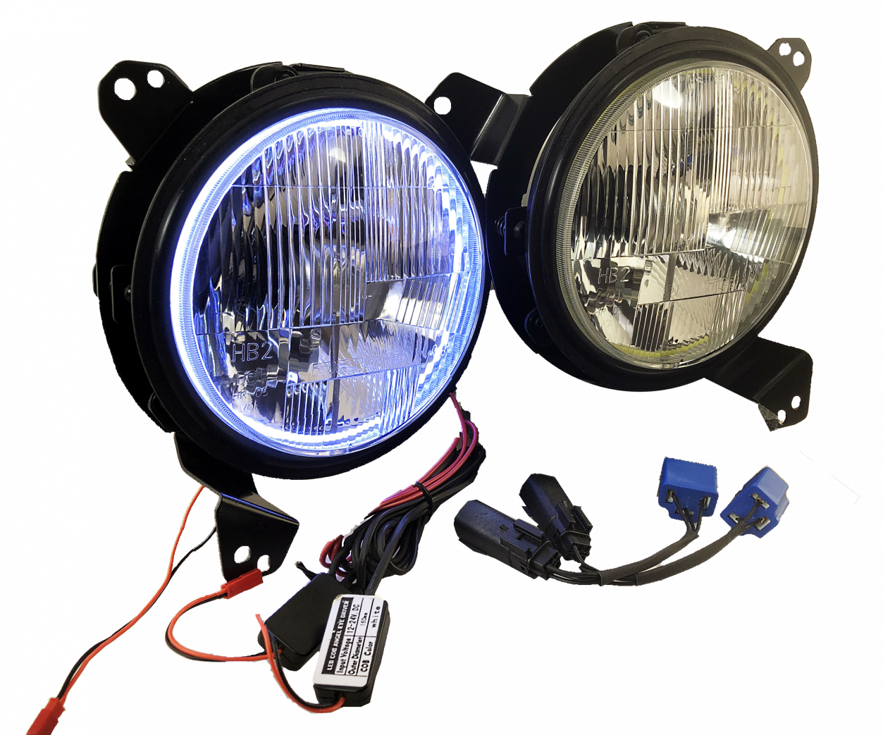 LED Headlight Kit With Halos For Jeep JL/ JT (PAIR)