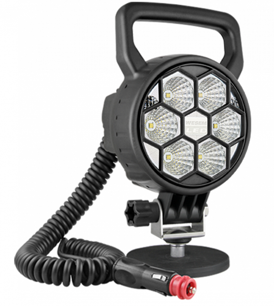 PORTABLE MAGNETIC LED WORK LIGHT WITH HANDLE, SWITCH AND CORD 3.75""