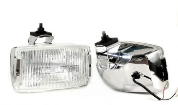 850H SERIES XENON WATERPROOF DRIVING W LED CITY LIGHT KIT  2 EA   - CHROME 100W w STONE GUARDS