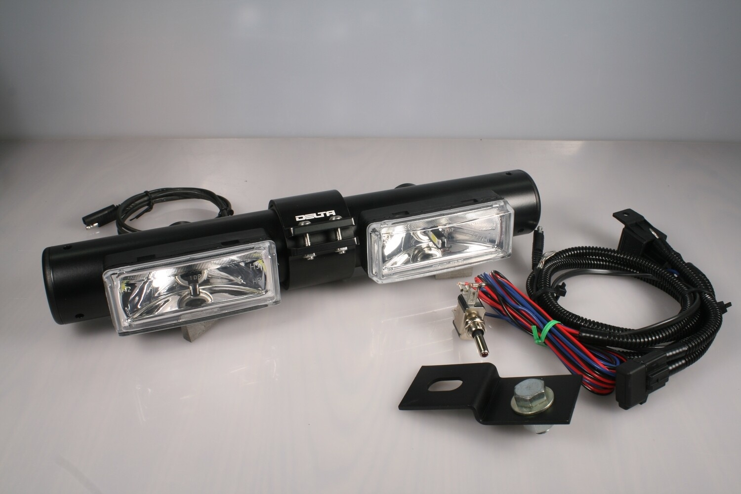 BLACK HI-POWER LED MONO MOUNT LIGHT BAR -LONG RANGE